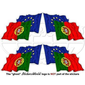 Europea union-portugal Bandera de saludando Par, eu-pt europe-portuguese 2