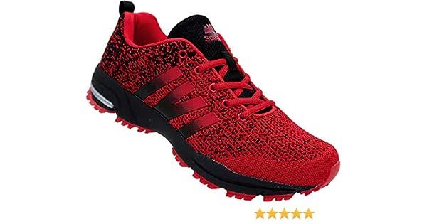 Zapatillas Deportivas para Hombre, Color Rojo y Negro, Color Rojo ...