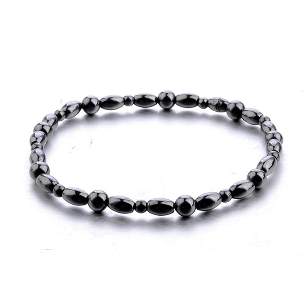 JaneDream Women Bohemian Black Magnetic Lodestone Bracelet Anklet Ankle Chain Simple Classic