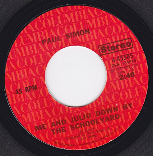 45vinylrecord Me And Julio Down By The Schoolyard/Congratulations