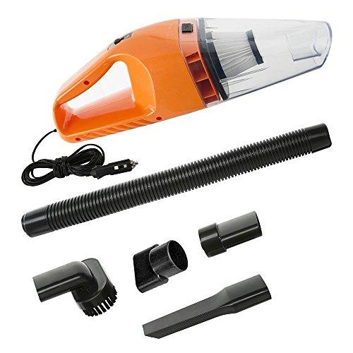 Car Vacuum Cleaner, Handheld Vacuum–Portable Vacuum AiMiiNiii DC 12V 120W 5000 Pa Wet/Dry Car Vacuum Cleaner High Power with 16.4FT 5M Power Cord (Orange)