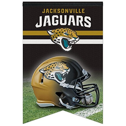 Nfl Premium Banner (NFL Jacksonville Jaguars WCR94142013 Premium Felt Banner, 17