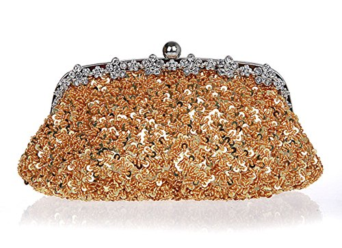 Bride Clutch Bag Sequin GSHGA Evening Bag Womens Handbag Bag Silver Craft Retro Gold Bags 5nZ5rI8w