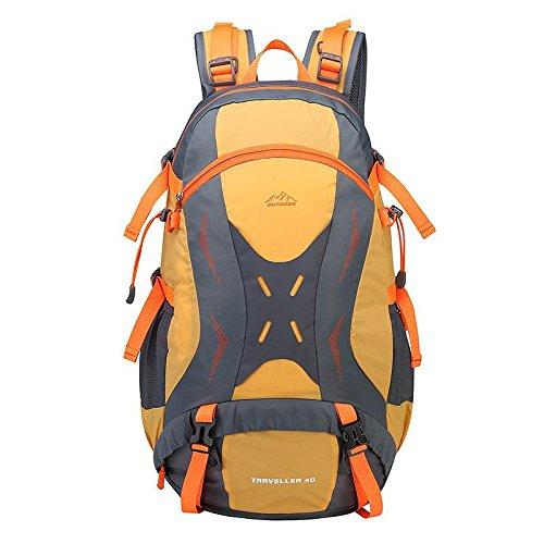 YYY-Mochila de gran capacidad al aire libre viajes bandolera hombres y mujeres impermeables deportes montañismo , fluorescent green Yellow