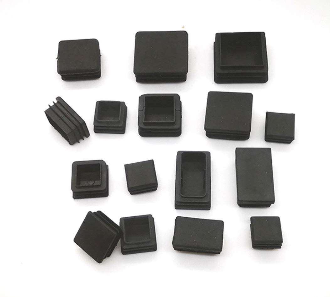 ONLYKXY 10-38MM Diameter Nylon Plastic Square Snap in Type Locking Furniture Hole Plugs Button Protective Cover Cap Head Color Black Square 15x15mm//0.59inch, 10