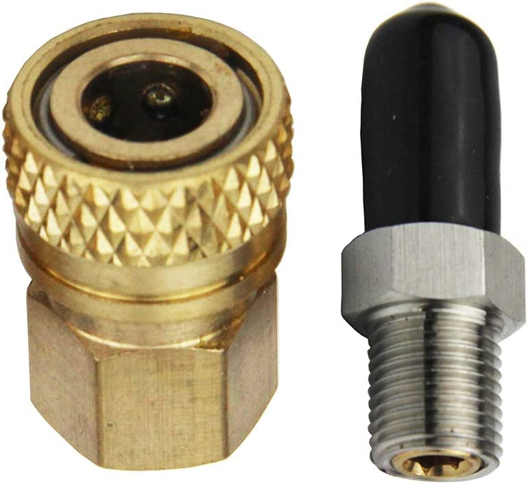 connecteur Femelle coupleur et Flexible Raccord m/âle /à extr/émit/é Double en Acier Inoxydable Paintball PCP Airforce avec raccord Rapide M10 1 // 8NPT 1//8 BSPP Type 7