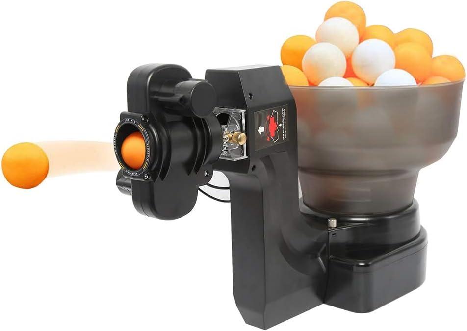 Stoge Máquina Automática De Pelota De Ping Pong Tenis De Mesa Robot for Entrenamiento con 36 Diferentes Bolas Giratorias Capacidad De 100 Unidades Pelotas