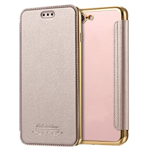 For iphone 7 Plus,GBSELL Slim Shock Absorption Bumper Case Cover For iphone 7 Plus 5.5 Inch (Gold)