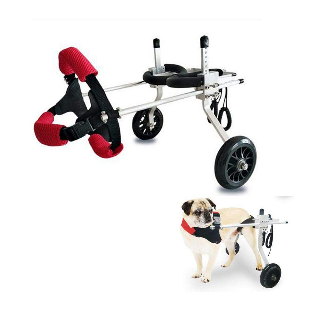 whenear Adjustable Dog Wheelchair for Back Legs,Hind Legs Auxiliary Pet Wheelchair,Soft Comfortable Dog Wheelchair for Small/Medium/Large Dog by whenear