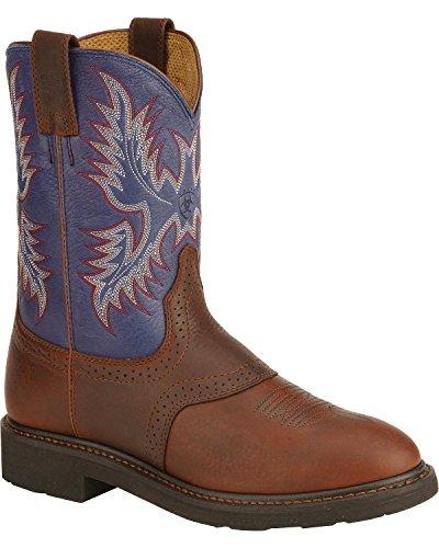 Ariat Men's Sierra Saddle Vamp Work Boot Soft Toe Redwood 11