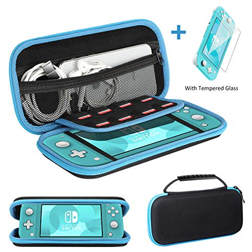 Ztotop Case and Tempered Glass Screen Protector for Nintendo Switch Lite 2019, Portable Travel Carrying Case Slim…