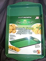 Orgreenic Ceramic Non-Stick Jelly Roll Pan, Green