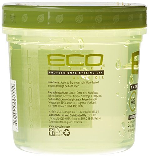 Eco Professional Styling Gel Olive Oil 16 Ounce Health