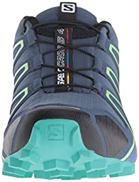 Salomon Women\'s Speedcross 4 W Trail Runner, Slate Blue/Spa Blue/Fresh Green, 8 B(M) US US
