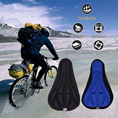 Ground Car 3D Cushion Cover Bicycle Cushion Bicycle Thick Silicone Sponge Cushion Soft Saddle Equipment Accessories Seat Cover
