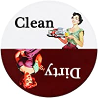 Yilador Premium Clean Dirty Dishwasher Magnet Sign, 3.15x3.15 inches Water Resistant Design, Endurance Rotating Dishwasher Indicator Reminder Tells Whether Dishes Are Clean or Dirty - Red