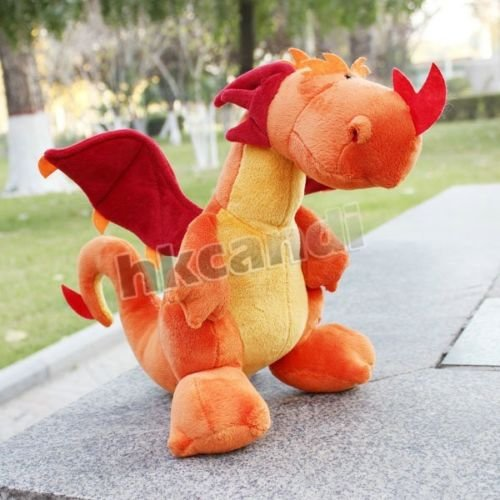 dragon 35 CM Orange dinosaur Stuffed Animals soft toy baby dolls plush BG