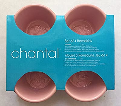 Chantal Stoneware 1 Cup 0.23L 8oz Set of 4 Bunny Rabbit Ramekins, Pink