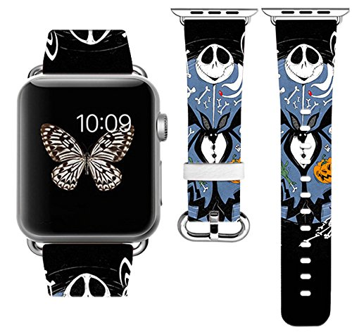 Halloween Apple Watch Band 42MM 44mm Stainless Steel Connector iWatch Band for Apple Watch 42mm 44mm iWatch Band for Apple Watch 38mm Series 1 Series 2 Series 3 Series 4 (42-44mm S/M) for $<!--$33.99-->