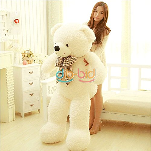 Bear Huge 100% Cotton Toy Best 70CM Soft Giant Big Plush (white)
