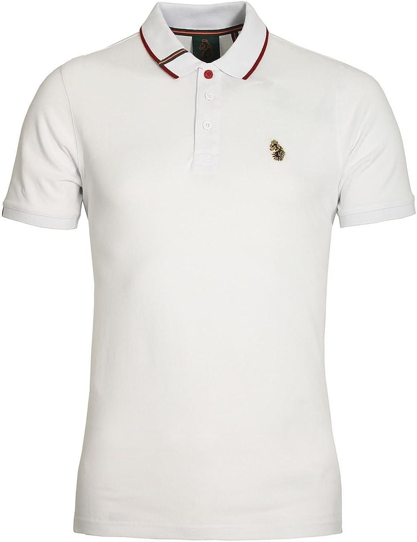 Mens Polo Shirt LUKE SPORT Meads Polo Shirt White