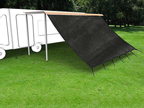 Shatex RV Awning Shade with 90% Privacy Screen Free Kit 8' x 16', Black ()