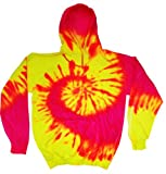 yellow tye dye - Buy Cool Shirts Mens Hoody Pullover Flourescent Yellow Pink Hoodie 3XL