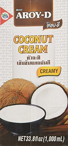 Aroy-D Pure Coconut Cream, 33.8 Fluid Ounce (Pack of 3)