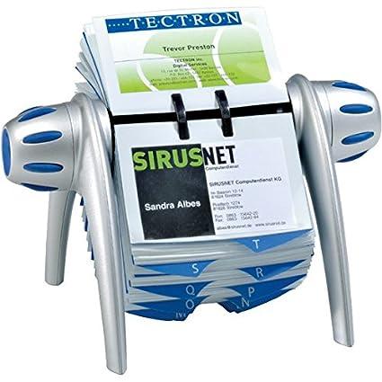 Schedario Rotativo Per Biglietti Da Visita.Durable 241701 Visifix Flip Vegas Schedario Rotativo Da