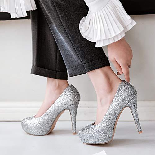 Tacco Per Caduta Piattaforma Sexy Partito Tacchi La E Paillettes Silver Sposa Stiletto Donna Scarpe Primavera Dandanjie Alti Da qf7nv