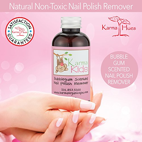Karma Organic Kids Bubblegum Scented Nontoxic Natural Nail Polish Remover (4 fluid ounce) by Karma Organic Spa (Image #3)