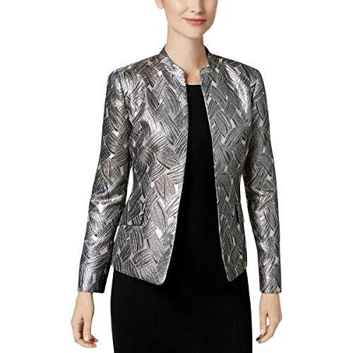 (Kasper Women's Satin Fly Away Jacket, CHAMPGANE Multi, 8)