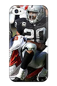 Iphone 4/4s Case Cover - Slim Fit Tpu Protector Shock Absorbent Case (oaklandaiders )