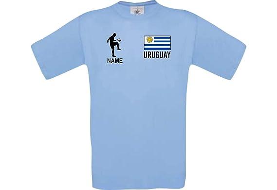 Shirtstown Camiseta De Hombres Camiseta de Fútbol Uruguay con Su Nombre Deseado Estampado: Amazon.es: Ropa y accesorios
