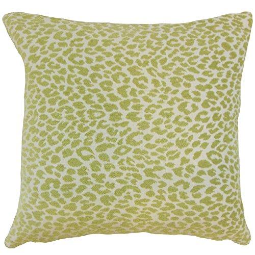 The Pillow Collection P18-BAR-M9818-KIWI-P100 Pesach Animal Print Pillow, Kiwi ()