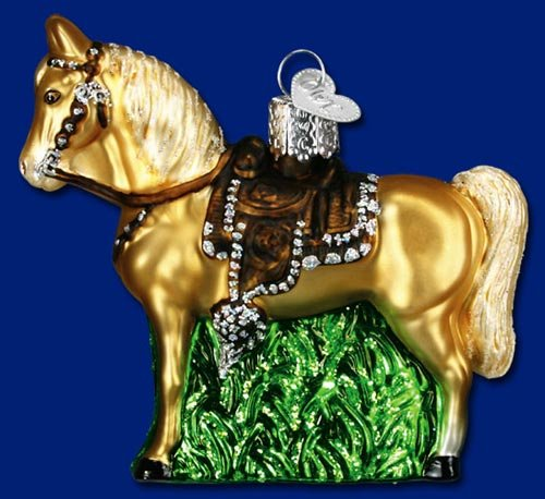 Old World Christmas Western Horse Glass Blown Ornament
