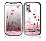 Motorola Photon 4G Decal Phone Skin Decorative Sticker w/ Matching Wallpaper - Pink Butterfly Fantasy