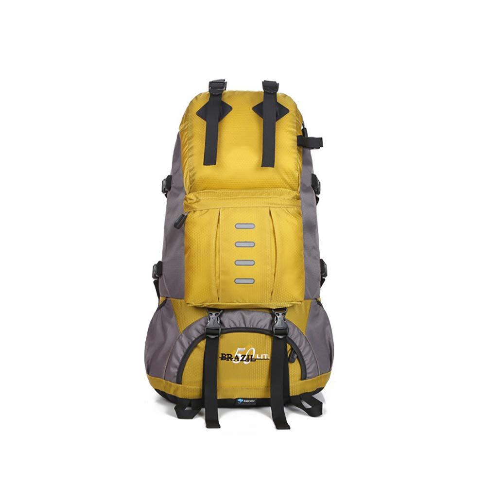 jaune  CXJC Sac à Dos De Randonnée Pédestre Nylon Water Resistang Randonnée Camping voyage Alpinisme pour Les Voyages Trekking Voyage Sac à Dos,jaune