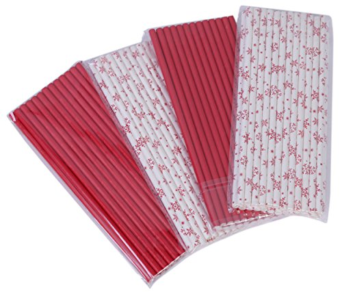 Paper Drinking Straws - Christmas