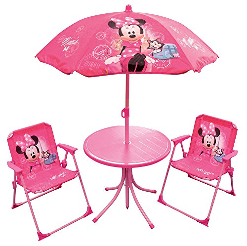 Fun House 712687 Minnie Garden Table and Chairs for Children (Garden Set Bistro Furniture Uk)