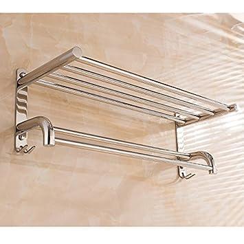 EHTF Toalla de baño de pared porta toallas para baño de acero inoxidable de acero inoxidable gancho porta toallas toalla espesor titular con un gancho,80cm ...