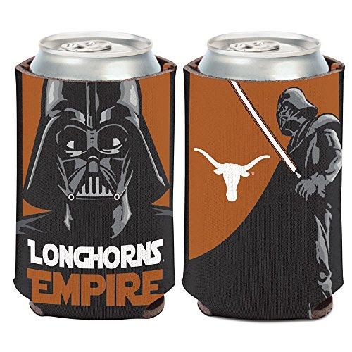 Texas Longhorns Official Ncaa 4 Inch Star Wars Darth Vader Insulated Coozie Can Cooler By Wincraft 157270