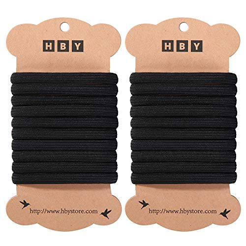 - 20 Pack: HBY Large Elastics Hair Ties Pony Ponytail Holders for Thick Hair - Stretchy Elastic Hair Bands for Women and Girls