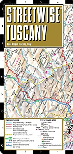 Tuscany Italy Map Of Area.Streetwise Tuscany Map Laminated Road Map Of Tuscany Italy