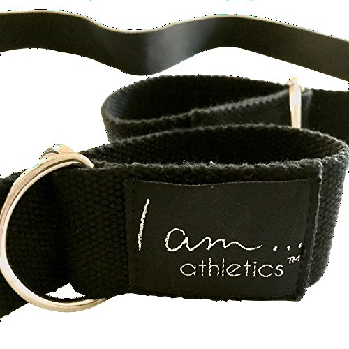 YOGA MAT CARRY STRAP I am... Athletics: 2 in 1 Yoga Belt & Mat Carrying Sling Adjustable, Lightweight, Durable Cotton. Excellent Grip for Stretching, Resistance & Lengthening
