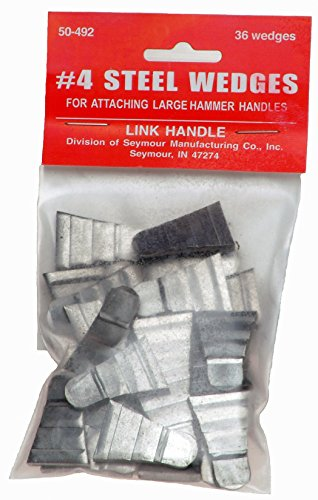 Link Handles 64147 Corrugated Steel Wedges for Sledge Hammers, No. 5, 1
