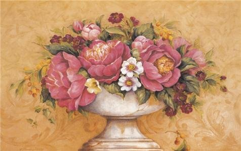 Oil Painting 'Flowers' Printing On High Quality Polyster Canvas , 12x19 Inch / 30x49 Cm ,the Best Gift For Girl Friend And Boy Friend And Home Gallery Art And Gifts Is This High Definition Art Decorative Canvas Prints