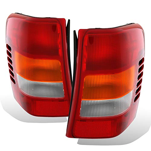 AmeriLite 1999-2004 Replacement Brake Tail Lights for Jeep Grand Cherokee - Passenger and Driver Side