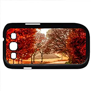November - Watercolor style - Case Cover For Samsung Galaxy S3 i9300 (Black)