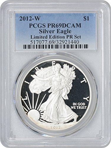 2012 W American Silver Eagle Limited Edition Proof Set Dollar PR69DCAM PCGS